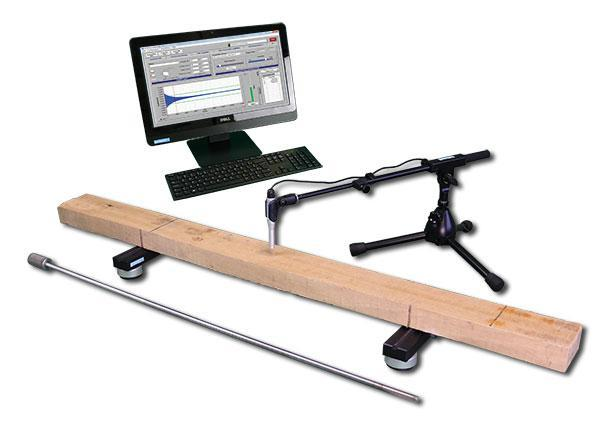 Sonelastic® System for large samples of grading wood beams.